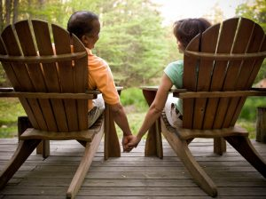 retired couple sitting in adirondack chairs mount kisco ny investment management and financial planning